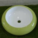 Кръгла Порцеланова Мивка зелено и Бяло - от Интер Керамик