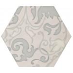 Плочки декор с размери 17.5 x 17.5 см. Decor Vodevil Ivory