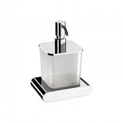 Сатенен стъклен дозатор за течен сапун с месингова стойка VGDI954 от Daniel (Италия)