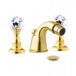 Смесител за биде тридупков златен лукс Crystal CY6302DO