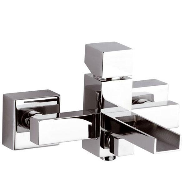 Смесител за вана/душ за външен монтаж на стена