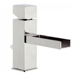 Смесител за умивалник с отводнител в кубични форми на дизайна