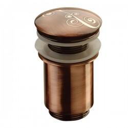 Клик сифон без преливник с финитура шоколадов цвят