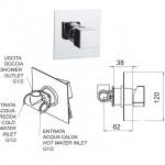 Смесител за душ модел за вграждане – дизайн серия Oxy OX23602