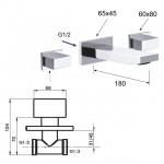 Смесител за мивка модел за вграждане – дизайн от серията Twin W5002