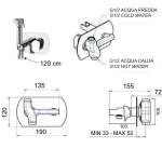 Ръчен душ на планка - заместител на биде Smart SR642 (IT)