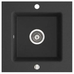 Черна мивка от гранит квадратна Kizz DRG50/50B (FERRO)