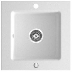 Бяла мивка от гранит квадратна Kizz DRG50/50W (FERRO)