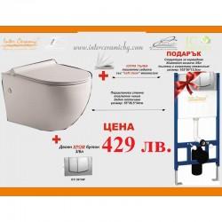 Сет структура за вграждане с тоалетна чиния за стена