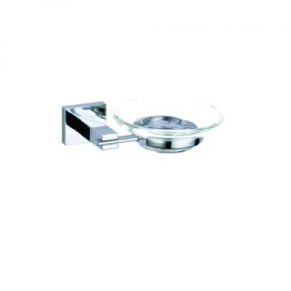 Стъклена сапунерка за окачване на стена