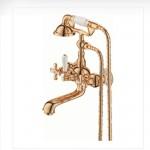 Смесител за вана и душ в класически дизайн, стилен завършек
