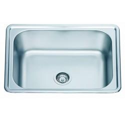 Кухненска мивка алпака - правоъгълна форма