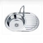 Единична мивка с плот от едната страна - от Алпака