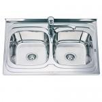 Голяма Двойна мивка от алпака - Интер Керамик
