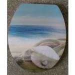 Седалка и капак MDF за тоалетна чиния – морски декор троен 3D принт