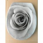 Антибактериална WC седалка от ДУРОПЛАСТ – декор сива роза