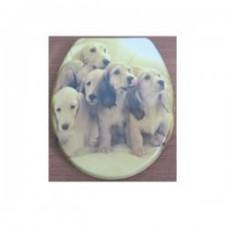 Антибактериална WC седалка ДУРОПЛАСТ – декор котило кучета