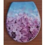 Антибактериална WC седалка от ДУРОПЛАСТ – декор цветенца