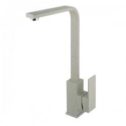 Висок месингов смесител за кухня – тип стоящ, квадратен дизайн