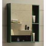 Зелен горен огледален шкаф за баня – модел от PVC