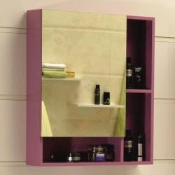 Лилав горен огледален шкаф за баня – модел от PVC