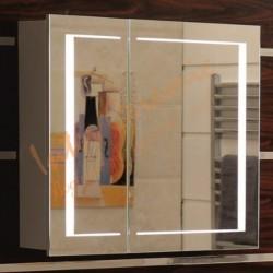 Горен PVC шкаф за баня с огледало – модел ICMC 6015-80