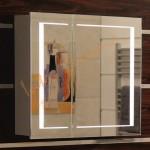 Горен PVC шкаф за баня с огледало – модел ICMC 6015-70