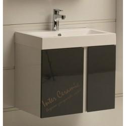 PVC шкаф за баня със сиви вратички – модел ICP 6087 Gray