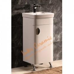 Комплект за баня мивка и долен шкаф – компактен размер