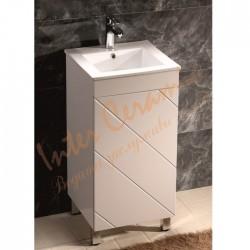 Комплект с квадратен PVC шкаф за баня –  модел ICP 4242