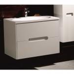 """Бял долен шкаф за баня с вградена мивка – модел """"Цвети"""""""