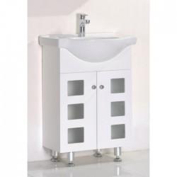 Бял PVC долен шкаф за баня тип стоящ – ICP 8544