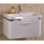 Бял PVC долен шкаф за баня тип за стена – ICP 7045