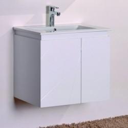 Бял PVC стенен долен шкаф за баня – ICP 6046