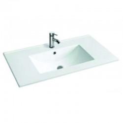 Бяла порцеланова мивка за баня – за вграждане в мебел