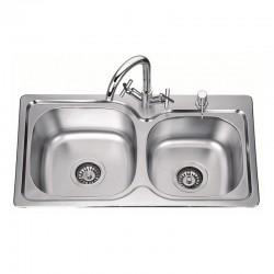 Двойна мивка за кухня – модел от алпака ICK S7639P
