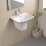 Стенен умивалник за баня – модел Арес-Тондо на Inter Ceramic