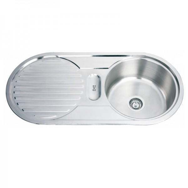 Мивка за кухня от алпака в овален дизайн – ICK D10048A L/R