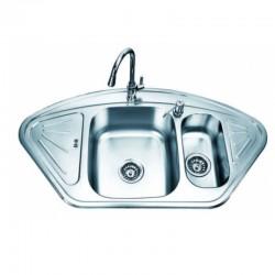 Модерна двойна кухненска мивка от алпака – ICK SSU10255F