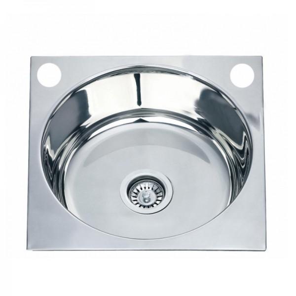 Квадратна кухненска мивка от алпака ICK D4545P