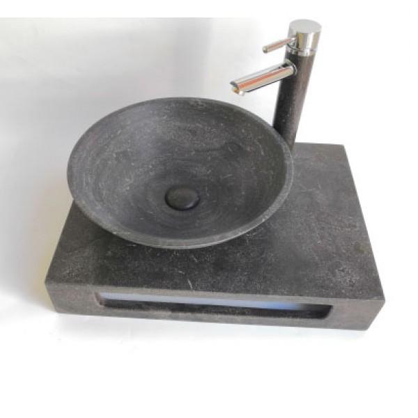 Плот за стенен монтаж с мивка ICL 5842BL от Inter Ceramic (България)
