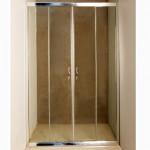 Стенен параван за баня - стъклен