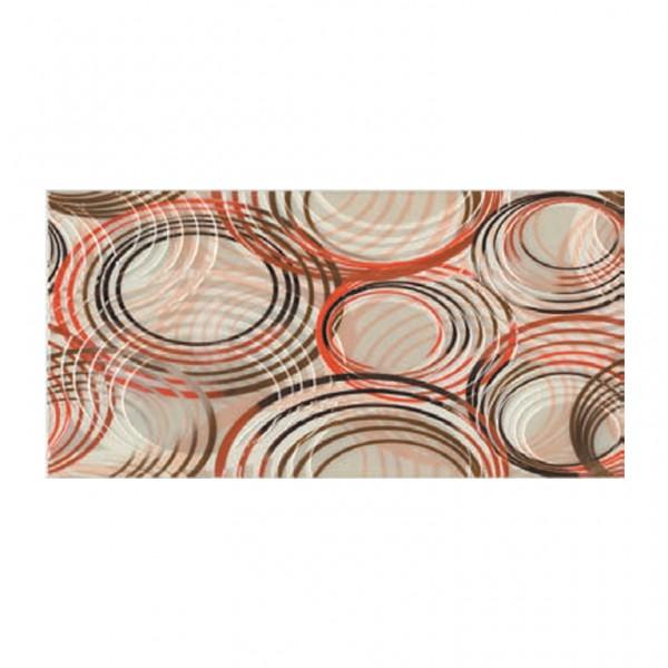 Плочки декор с размери 25 x 50 см. Decorado Olas Rojo
