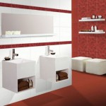 Висококачествени плочки за съвременна баня Viva Rojo от Keros (Испания)