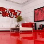 Поп-арт плочки за баня в бяло и червено Urban от Ceramica Latina (България)
