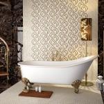 Луксозни гранитогрени плочки за баня Puls White от Newker Ceramics (Испания)