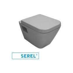 Турска тоалетна чиния с вградено биде Diagonal softcloseмеханизъм - тип конзолна