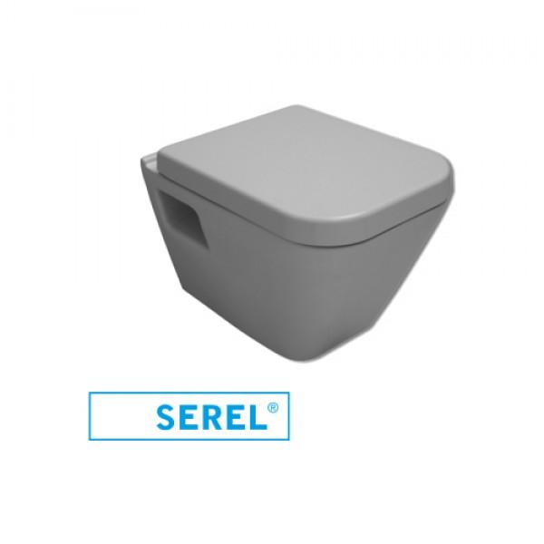 Турска тоалетна чиния Diagonal softclose механизъм - тип конзолна