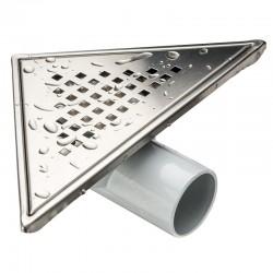 Сифон за баня триъгълен – финиш инокс