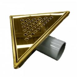 Сифон за баня триъгълен – финиш златен цвят